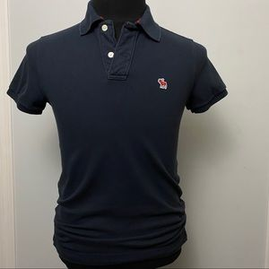 Abercrombie Fitch Mens Polo XS Muscle Blue Red